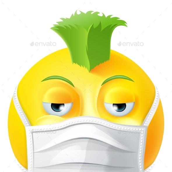 Punk Emoticon Emoji PPE Medical Mask Face Icon