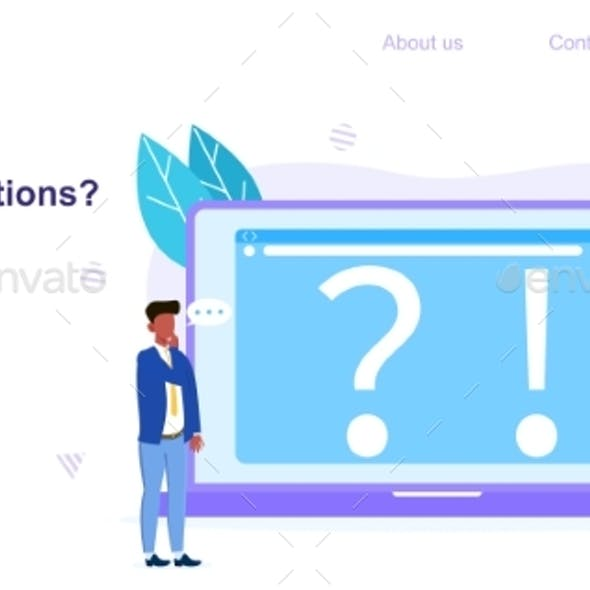 Web Page Template for Have A Question