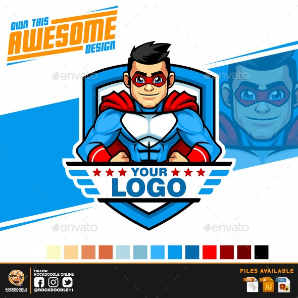 Superhero Logo - Vector Abstract