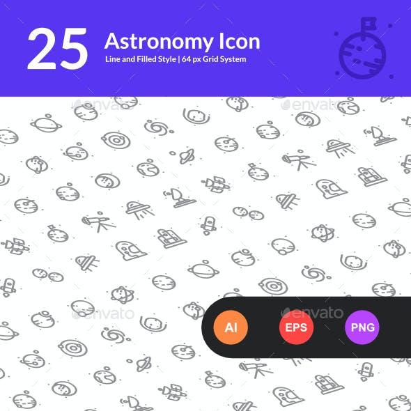 25 Astronomy Icon