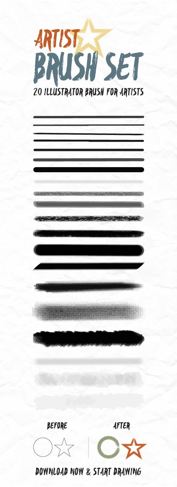 Artist Brush For Illustrator - Brushes Illustrator