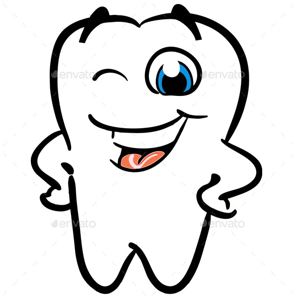 Latest Cartoon Teeth Vector By Rizkirrputra Graphicriver