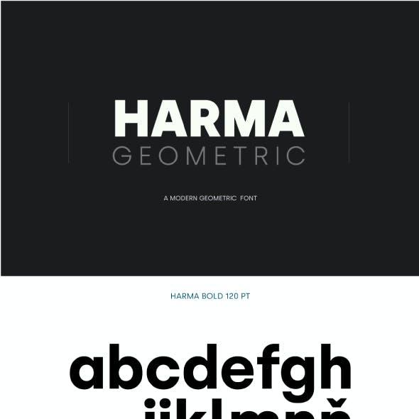 Harma Geometric Sans Font