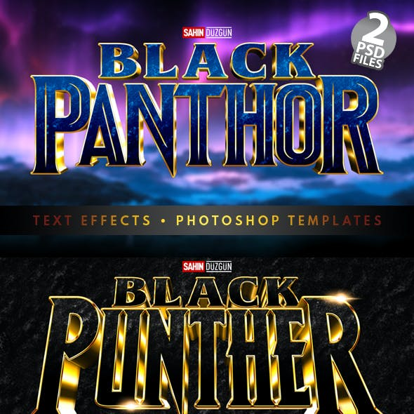 Black Panthor | Text-Effects/Mockups | Template-Package