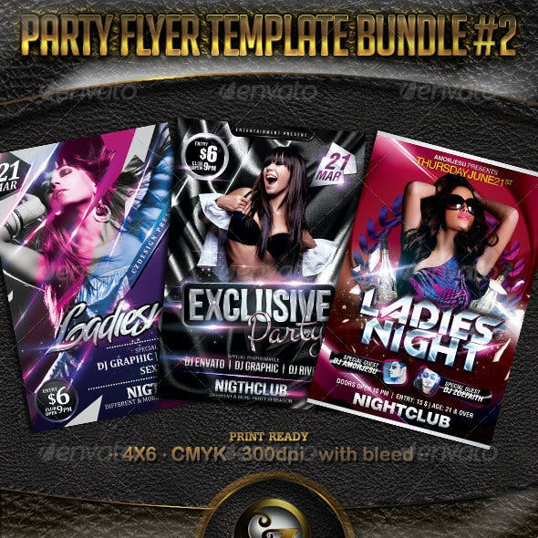 Party Flyer Template Bundle Vol2 - 3 in 1
