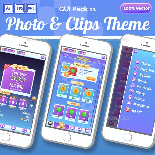 Photo & Clips Theme GUI Pack 11