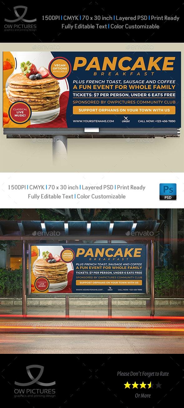 Pancake Breakfast Billboard Template - Signage Print Templates