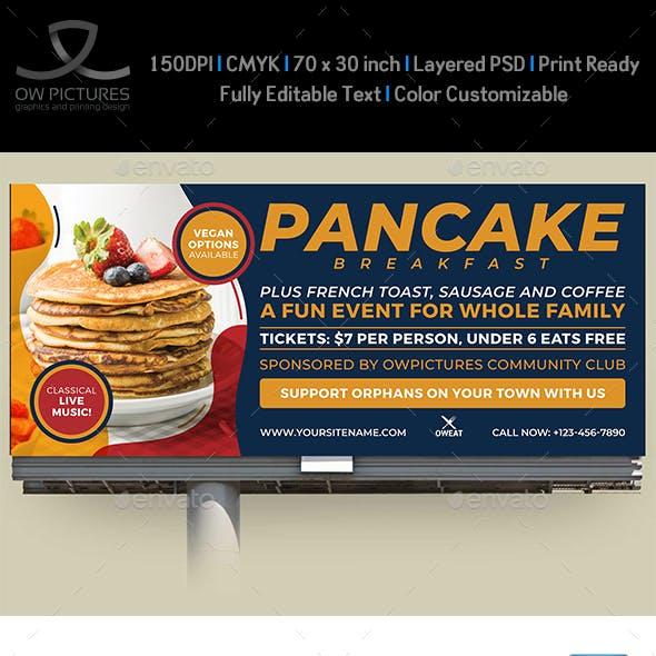 Pancake Breakfast Billboard Template