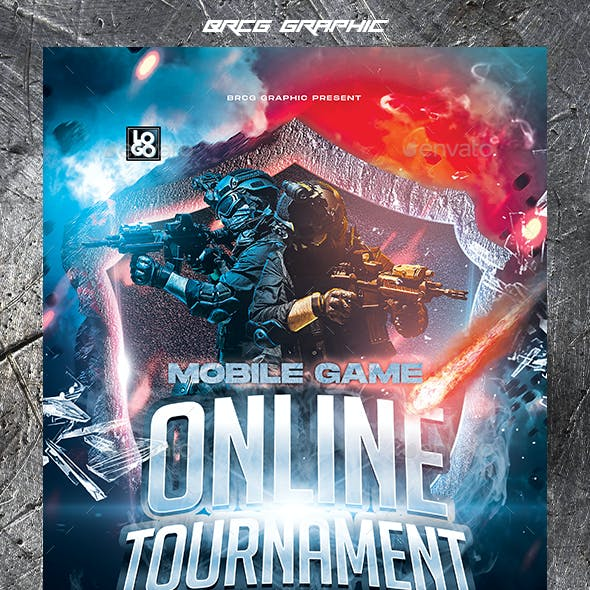 Mobile Game Tournament Flyer