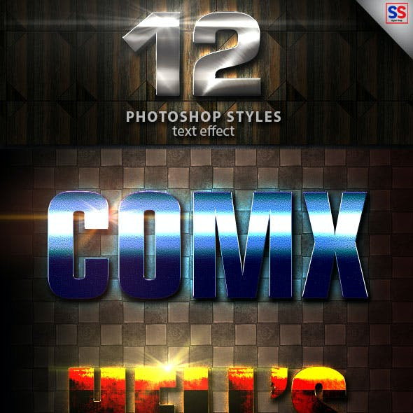 12 Light Photoshop text Effect vol 24