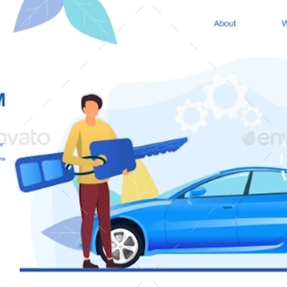 Web Page Template for a Car Alarm System