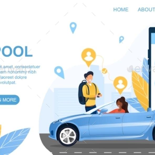 Carpool Concept Sharing Private Transport