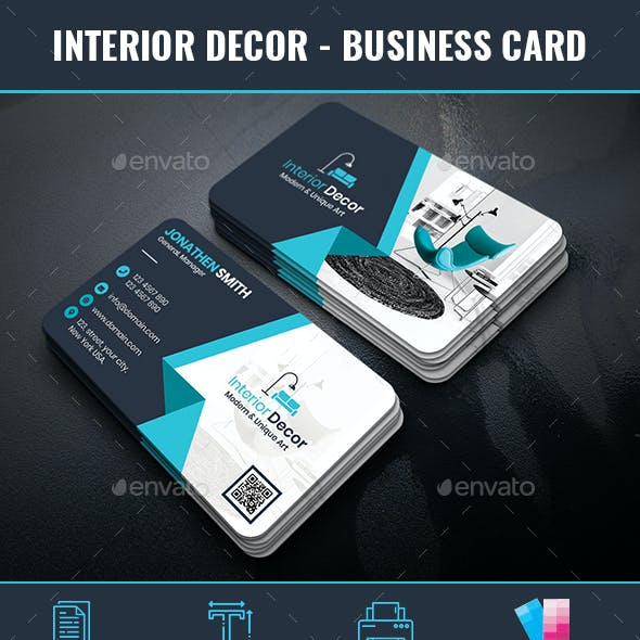 Interior Decor Business Card