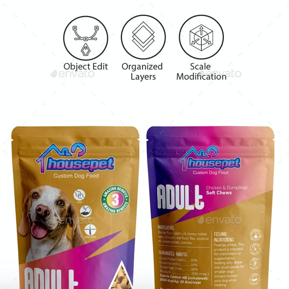 Dog Food Packaging Template