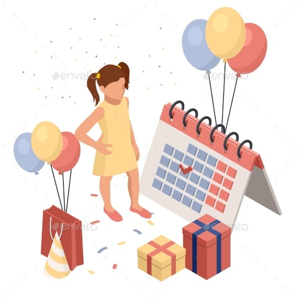 Birthday Party Isolated Concept