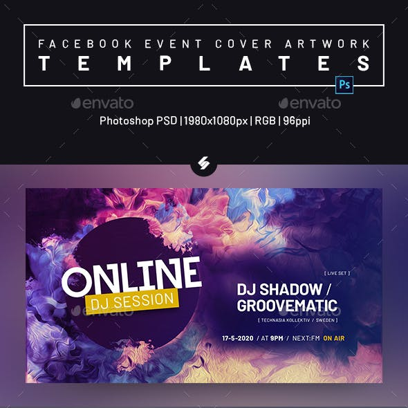 Electronic Music Session 38 - Facebook Event Cover Templates