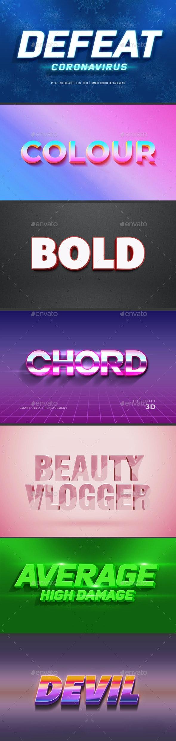 Modern 3D Text Effect Vol 1 - Text 3D Renders
