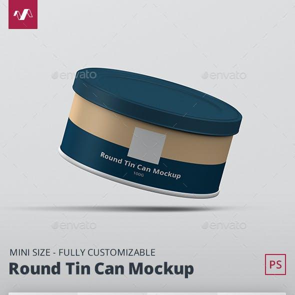 Tin Can Mockup Round Mini
