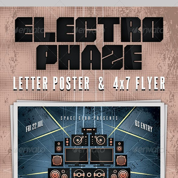 Electro Phaze Poster and Flyer