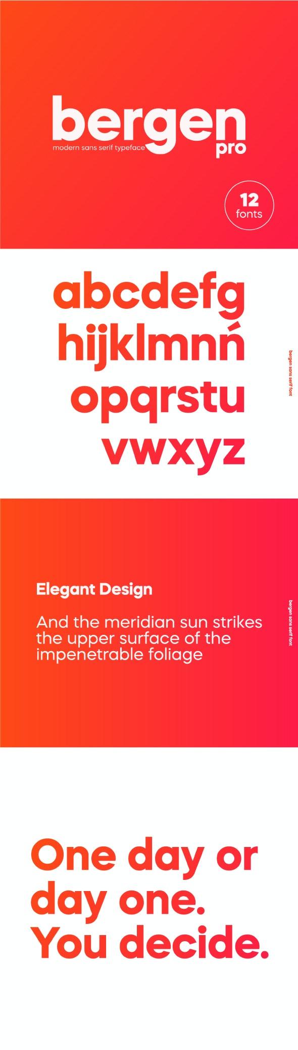 Bergen Sans Serif Pro Font - Miscellaneous Sans-Serif