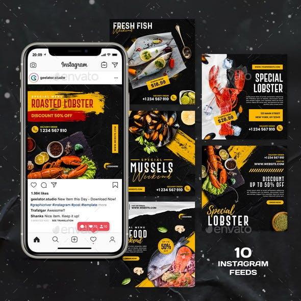 Seafood Menu Instagram Template