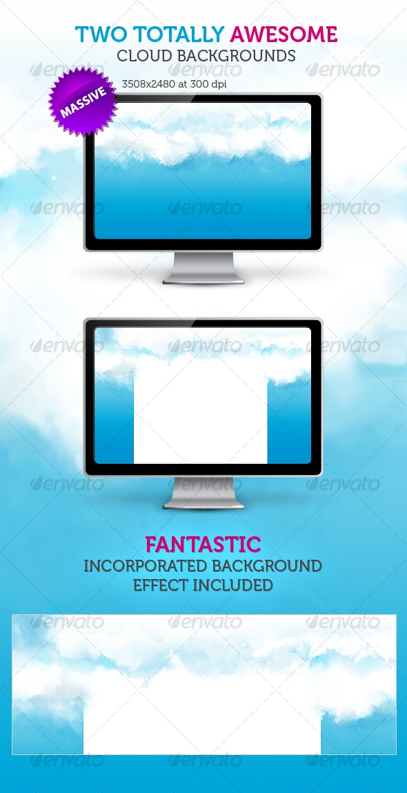 Web 2.0 Incorporated Clouds Background - Backgrounds Graphics