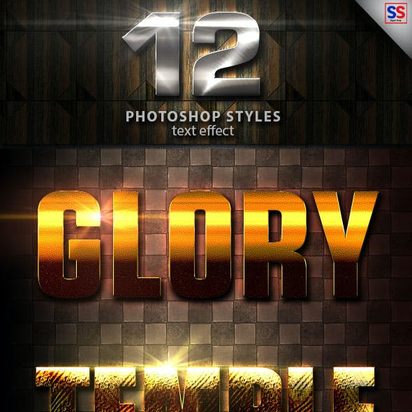 12 Light Photoshop text Effect vol 25