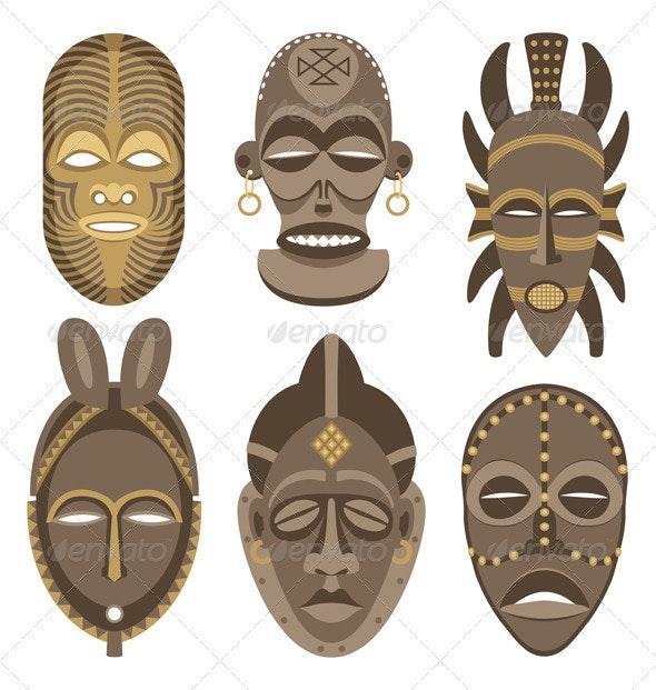African Masks - Decorative Symbols Decorative