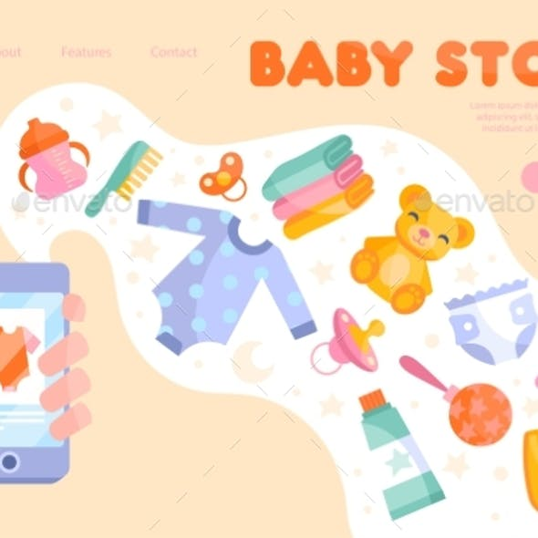 Online Baby Store Inventory Concept