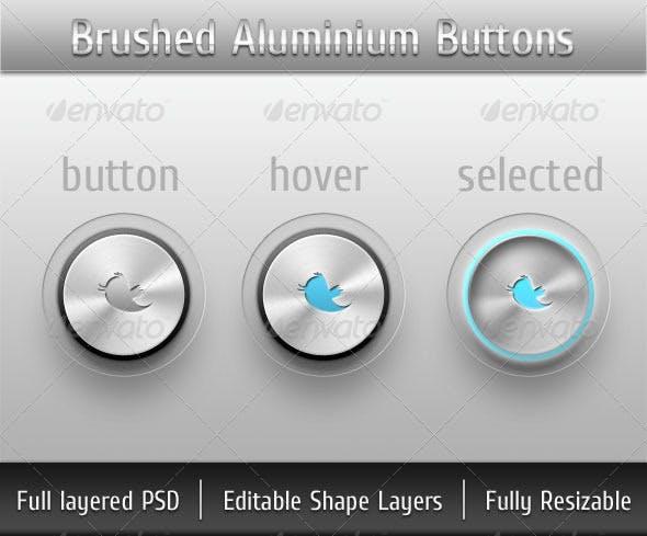 Brushed Aluminium Buttons