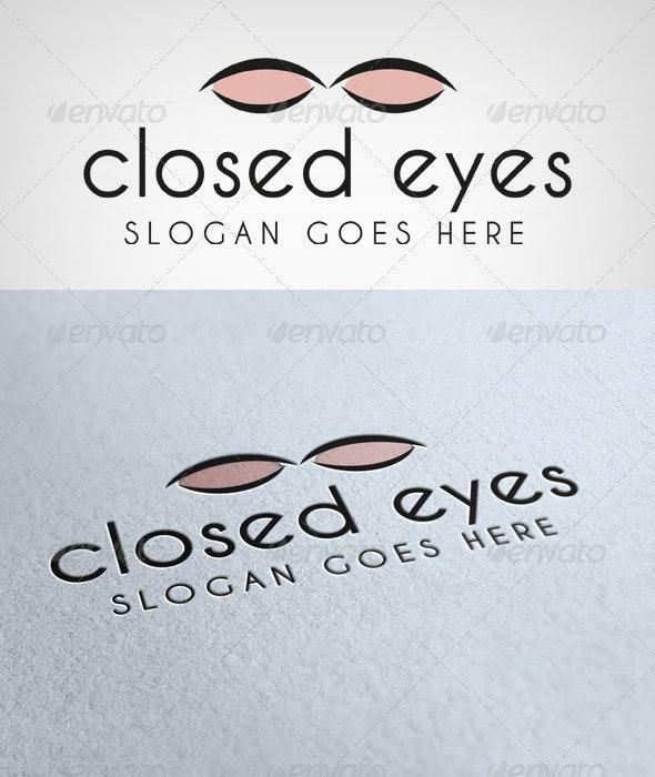 Closed Eyes Logo - Humans Logo Templates