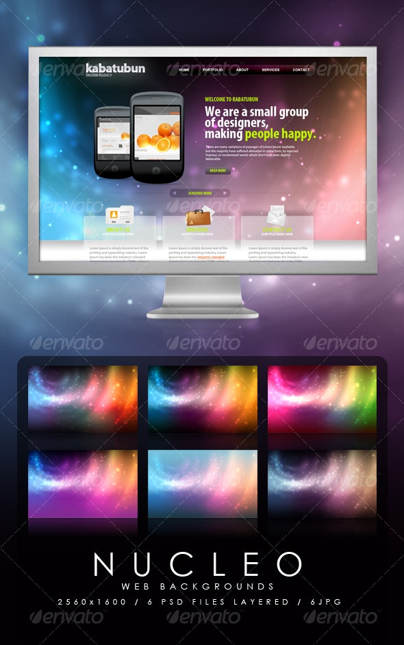 Nucleo Web Backgrounds - Backgrounds Graphics