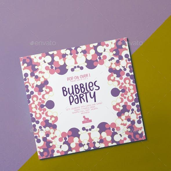 Bubbles Party Invitation