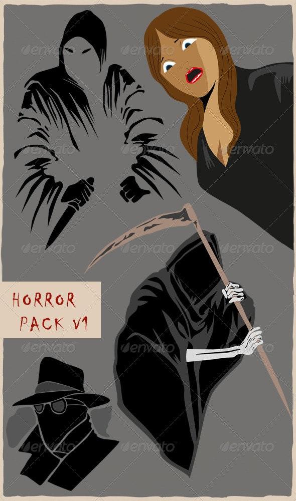 Horror Pack v1 - Characters Vectors