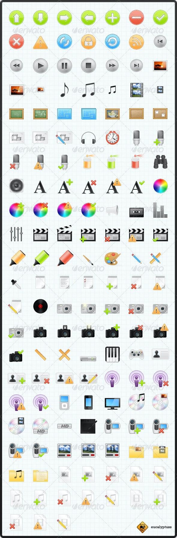 150 Web & Media Icons - Web Icons