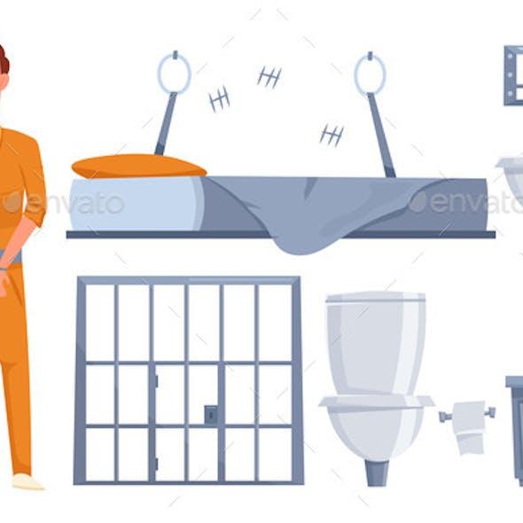 Prison Elements Cartoon