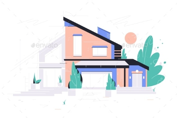 New Modern House Project - Buildings Objects