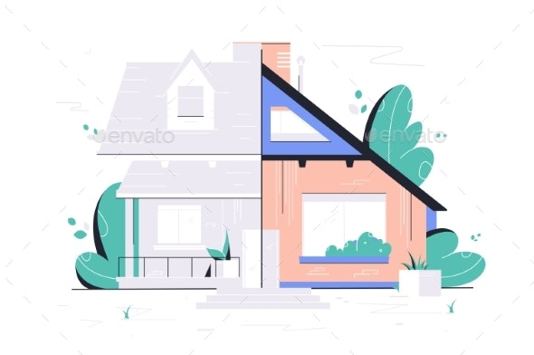 Home Renovation Plan - Man-made Objects Objects