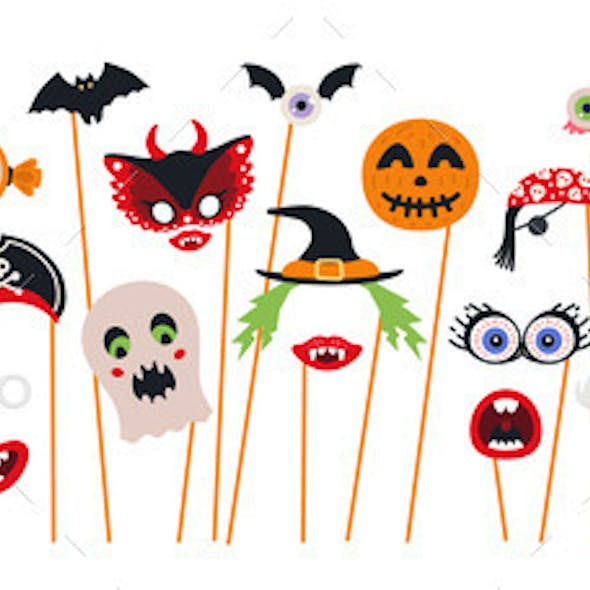 Halloween Photo Booth Props and Scrapbooking
