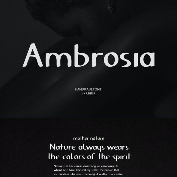 Ambrosia - Handmade Font