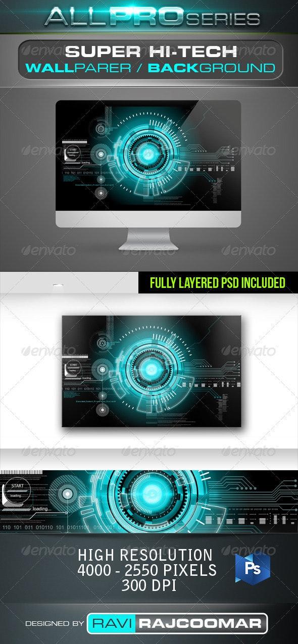 Super Hi-Tech Background - Tech / Futuristic Backgrounds