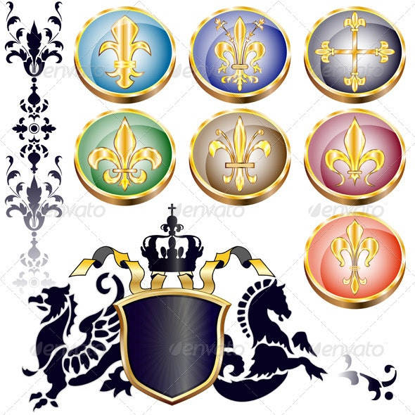 Fleur-de-lis and arms - Monsters Characters