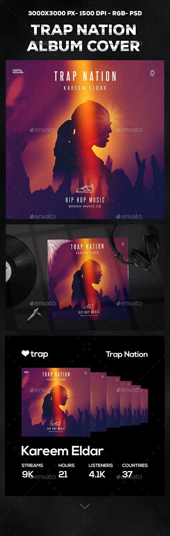 Trap Nation Album Cover - Social Media Web Elements