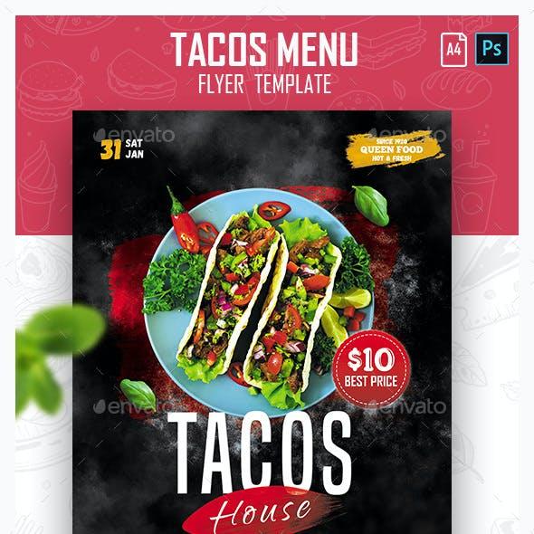 Tacos Menu Flyer