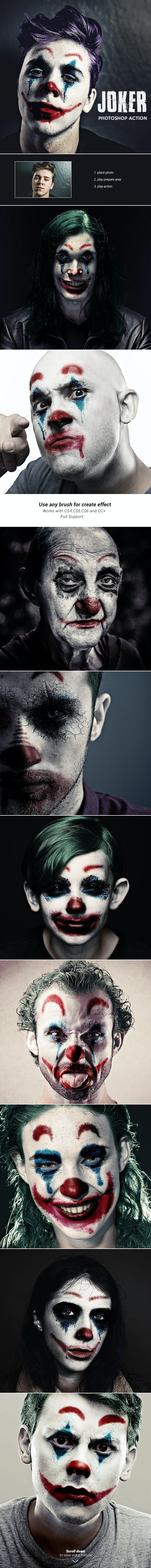 Joker - Photoshop Action - Photo Effects Actions