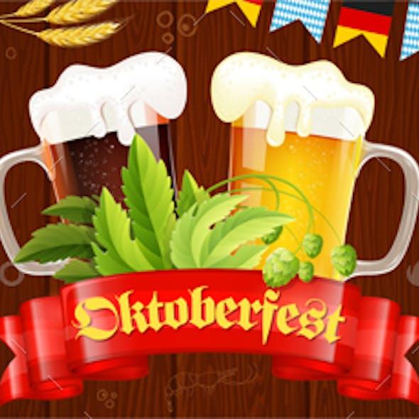 Oktoberfest Beer Festival Poster Banner