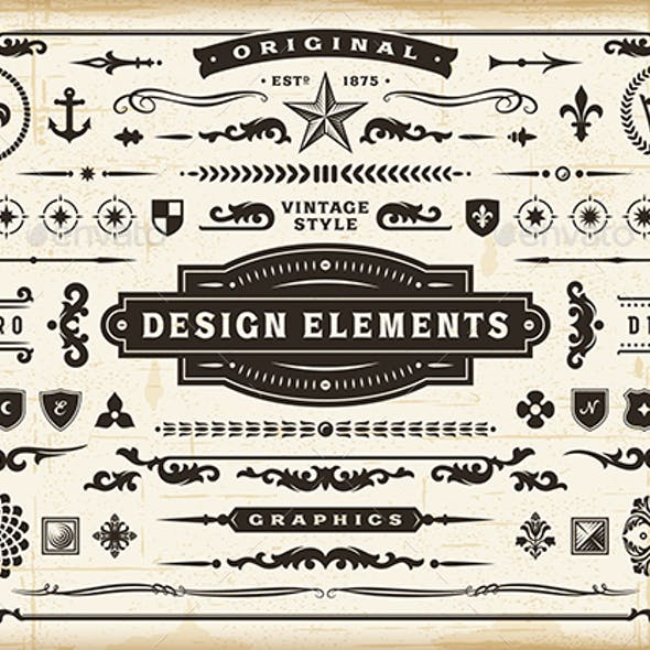 Vintage Original Design Elements Set