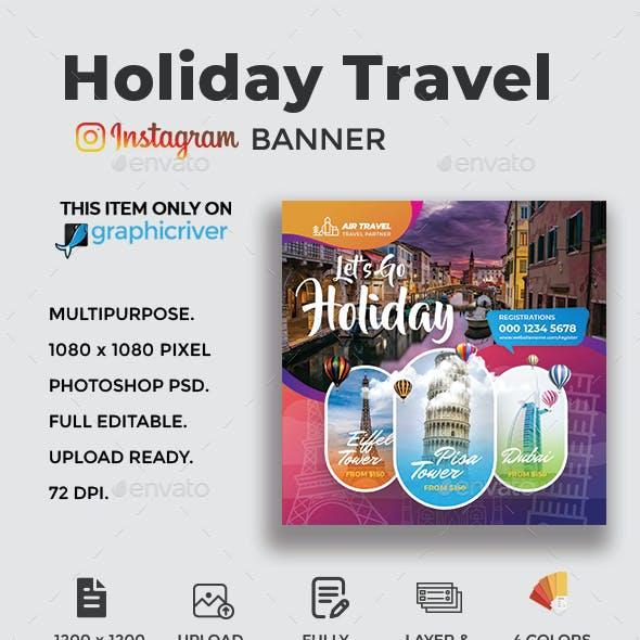 Travel Holiday Instagram Banner