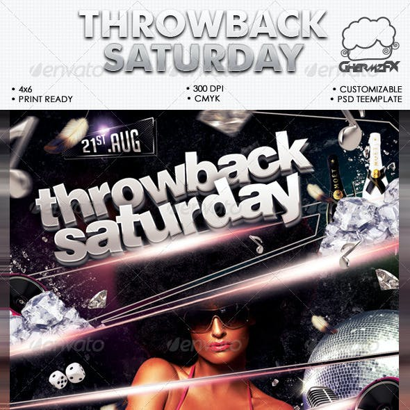 Throwback Saturday Flyer Template