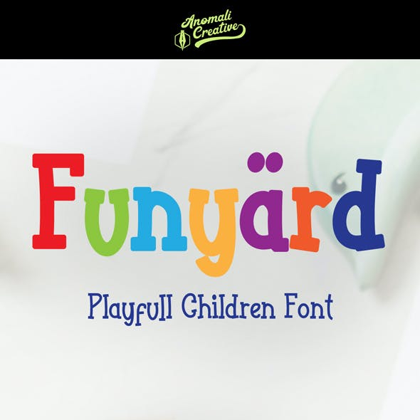Funyärd-Playfull Fonts in Kids Style for Children Book
